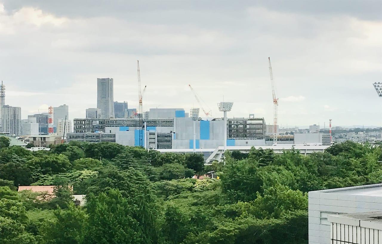 新市立病院の建設様子