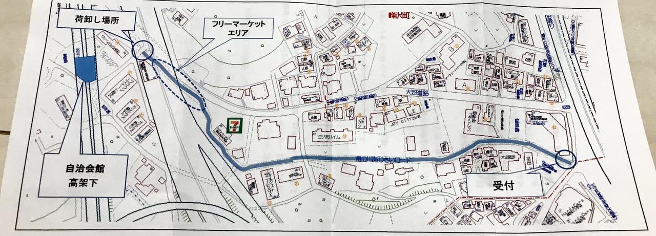 あじさいロード祭りの地図